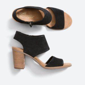 TOMS Women's Majorca Cutout Black Heel 8.5